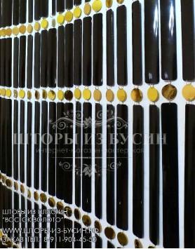 """Готовые шторы """"Восток золото""""  80 x 195 см"""