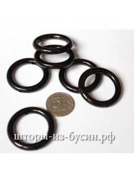 Бусина кольцо черное 40 Х 40мм