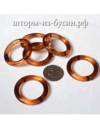 Бусина кольцо коричневое 40 Х 40мм