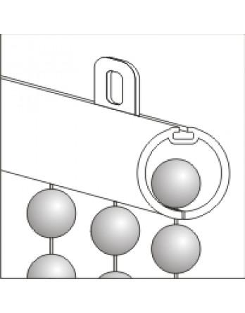 Профиль белый круглый 17мм